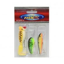 Fish X 3Pce. Lure Kit (Kit303pf-A)