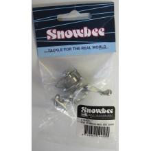 Snowbee Mini Spin Keychain Silver