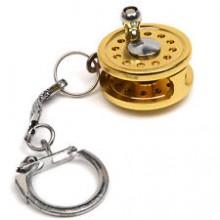 Snowbee Mini Spin Keychain Gold